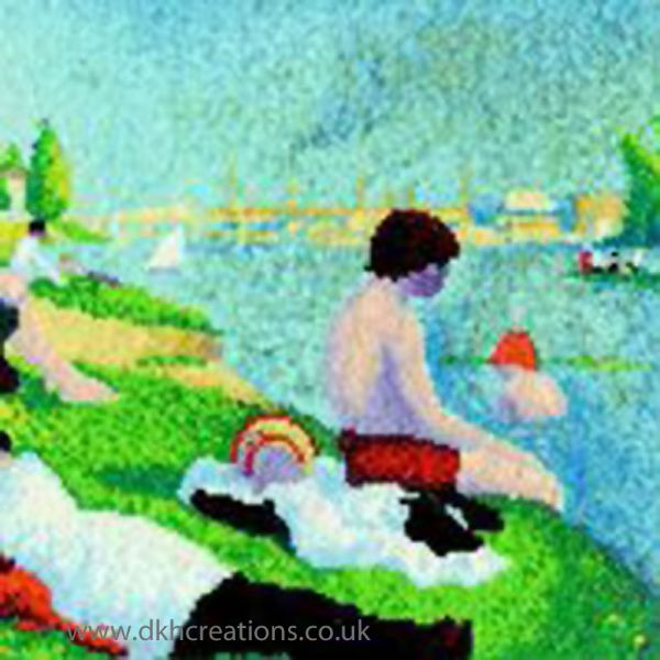 Seurat  Bathers At Asnieres Cross Stitch Kit